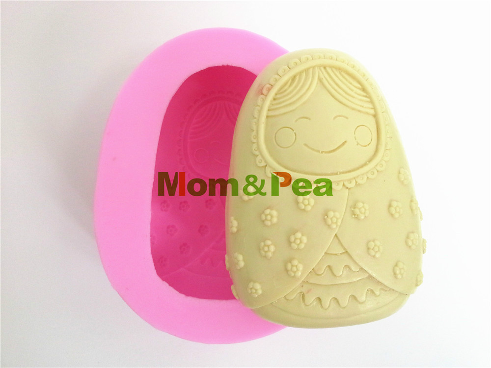 Arts,crafts & Sewing Mom&pea 0007 Free Shipping Clay Doll Shaped Silicone Soap Mold Cake Decoration Fondant Cake 3d Mold Food Grade Silicone Mould Complete In Specifications