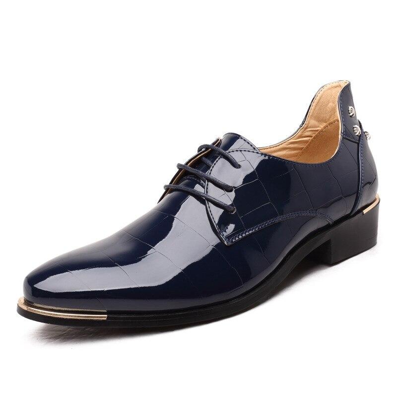Verni De Mariage Party Pour Mâle Noir Casual Oxford Mocassins En Hommes Asifn Chaussures bleu Brillant Homme rouge Chaussure Club Cuir Pwx8Aq76