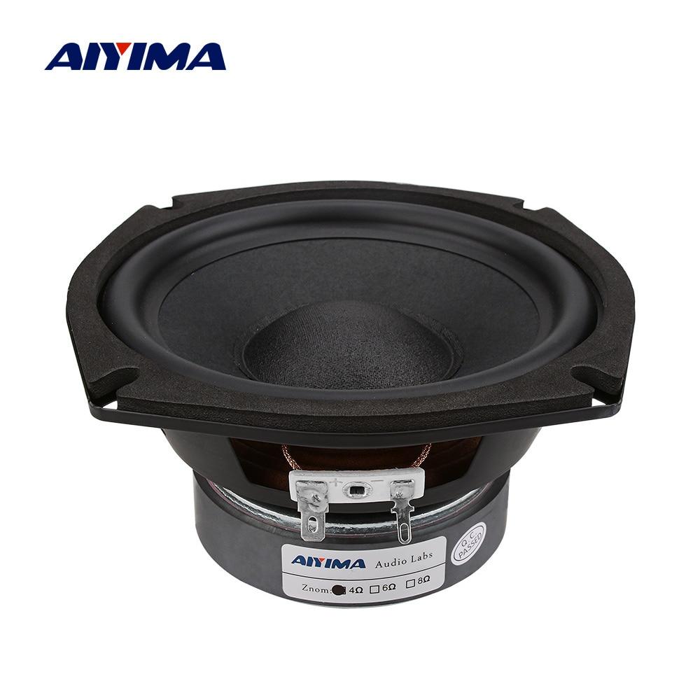 AIYIMA 5,25 дюймов сабвуферный динамик 4, 8 Ом, 120 Вт, высокомощный динамик, музыкальный громкий динамик, сделай сам, звуковой динамик s для домашнег...