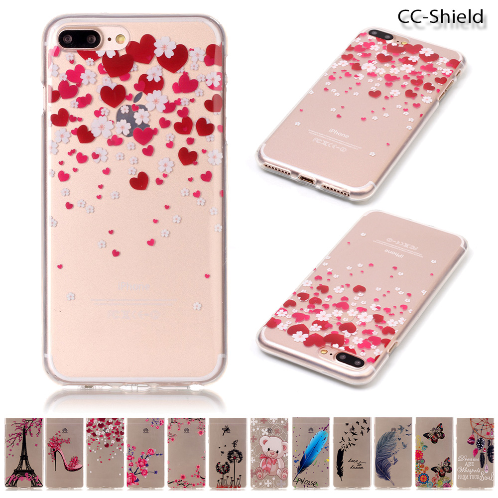 Fitted TPU Case for Apple 7 Plus iPhone 7plus 5.5 inch fashion Soft Silicone Phone Case  ...