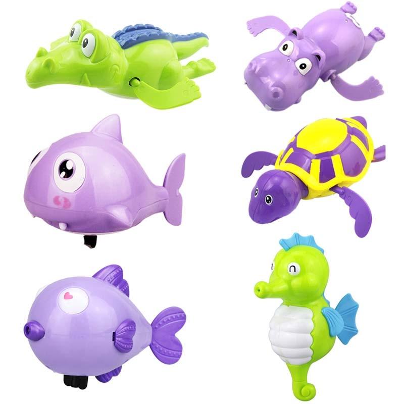Cute Cartoon Animal Tortoise Hippocampus Classic Baby Water Toy Infant Swim Turtle Wound-up Chain Clockwork Kids Beach Bath Toys
