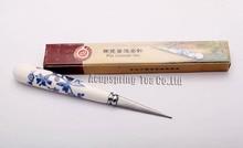 Porzellan Griff Tee Messer für Neugierigen Pu erh Tee Kuchen, tee Nadel, tee,, PJ37