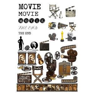 2 pcs/lot Movie Film Element Trivia Cosas Kawaii Uncut Stickers Scrapbooking Stationery Washi Tape Set School Supplies(China)