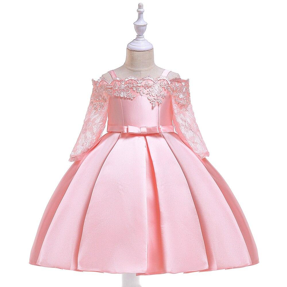 Cute   Flower     Girl     Dresses   for Wedding Blush Pink Princess Tutu Appliqued Lace2019 Vintage Child First Communion   Dress