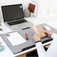 Kawaii Cute Vintage Anime Color Computer Felt Office Mat Weekly Plan Organizer Large Desk Table Storage