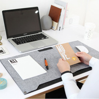 Kawaii Cute Vintage Anime Color Computer Felt Office Mat Weekly Plan Organizer Large Desk Table Storage
