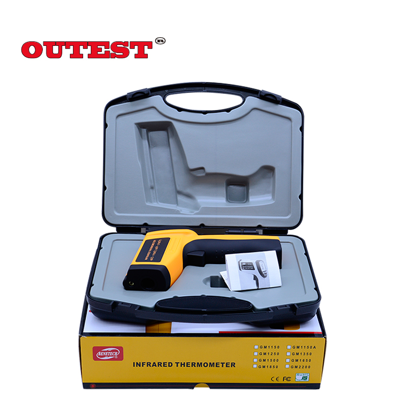 GM1150 Digital Laser Infrared  Thermometer Non-contace Laser Temperature tester -50 ~1150 degree With Carry Box