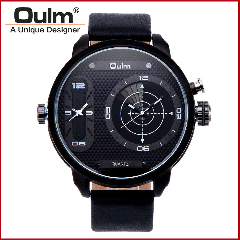 reloj hombre mens watches military big dial luxury 2 time zone classic leather strap japanese movement quartz oulm brand watch oulm mesh mens watches top brand luxury multiple time zone men s watch male quartz outdoor sports wristwatch reloj hombre