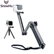 GoPro Accessories Collapsible 3 Way Monopod Mount Grip Extension Arm Tripod for Go pro Hero 4 3+2 xiaomi yi SJ4000 Camera GP238