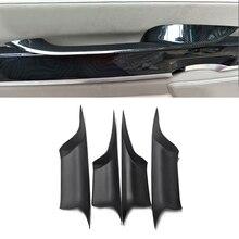 ل BMW 7 Series F01 2009 2010 2011 2012 2013 2014 2015 تصفيف السيارة الداخلية مقبض الباب سحب واقية غطاء تثبيت سريع