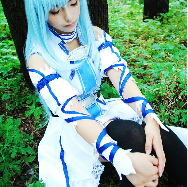 Sword Art Online Alfheim Online ALO SAO Asuna Asuna Yuki Costume cosplay dress Custom Made Free