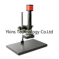1080P 60F / S HDMI VGA Digital Microscope Camera Combination + Large Stand + 180X / 300X C MOUNT Lens + 56 LED Lights