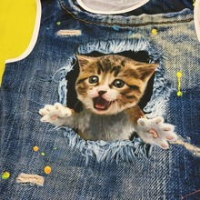 FORUDESIGNS Men's 3d Jeans Cat Tank Tops Men Sleeveless Tees O Neck Tank Top Summer Vest Men Casual Tank Top Man Singlets 2018