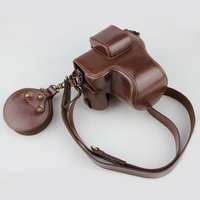 High quality PU leather case Camera Bag Cover Pouch for Canon EOS M50 M 50 With Battery Opening
