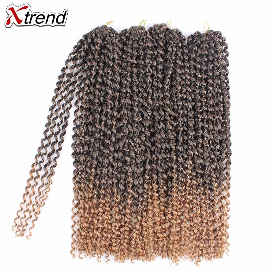Xtrend Passion Twist Hair Crochet Braid Extensions Water Wave Synthetic Crotchet Braids Spring Braiding Hair For Fluffy