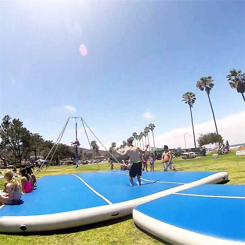 Tapis gonflable de culbuteur de voie d'air pour la gymnastique 6 m tapis gonflable de plancher de dégringolade d'airtrack pour l'usage à la maison