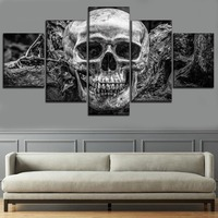 full square/round drill 5D DIY Diamond Painting Full Square 5 Piece Abstract Skull Pictures Diamond Mosaic Embroidery Picture