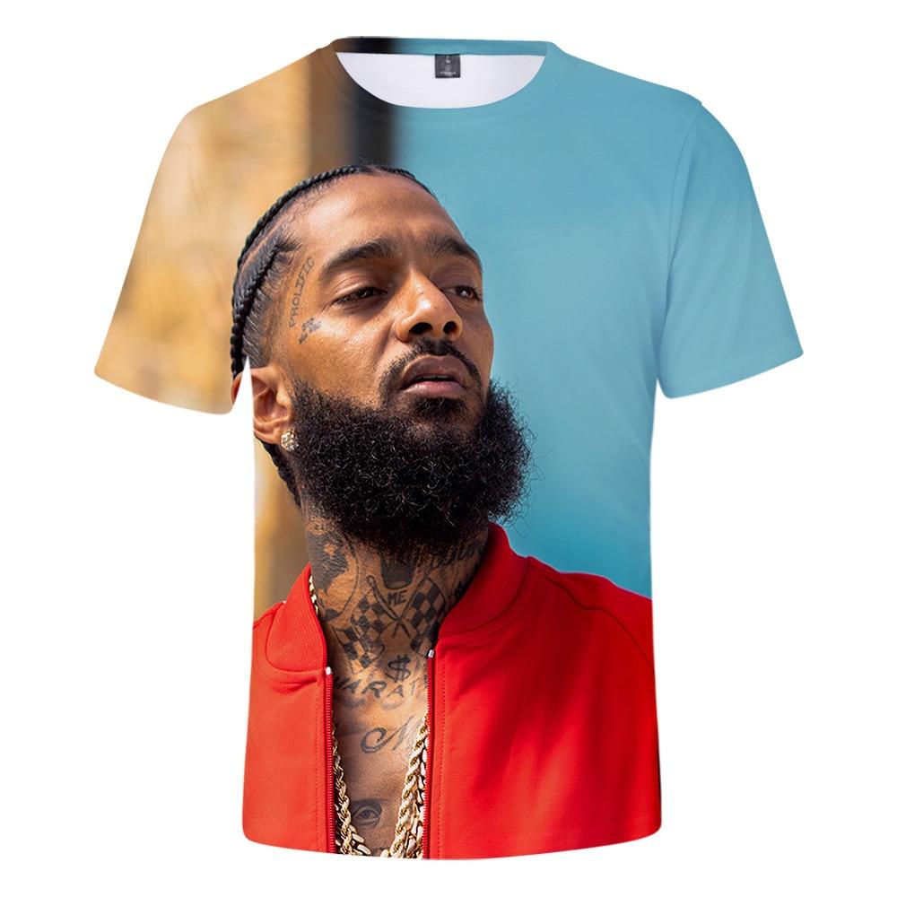 Hot Rapper nipsey hussle Print Short   T     shirt   Men/Women Harajuku Hip Hop Short Sleeve   T     shirt   nipsey hussle Cool streetwear