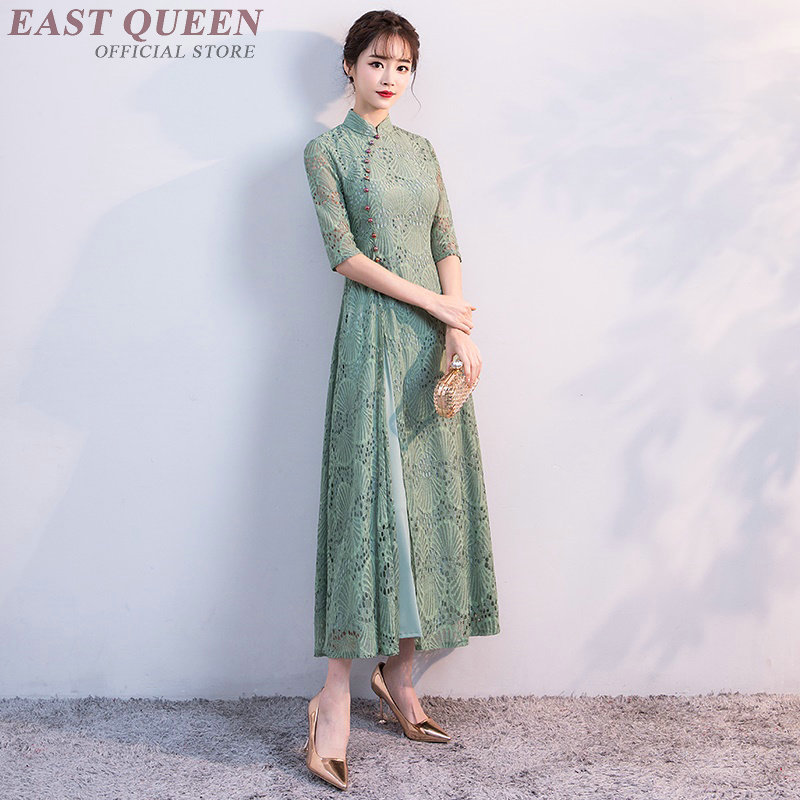 Qipao Traditional Chinese Oriental Dress Women Cheongsam Sexy Modern Chinese Dress Qi Pao Female Ladies Asian Dress KK2114 Y