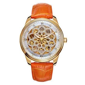 Luxury Romantic Floral Skeleton Watch