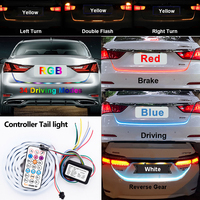 RF Wireless Controller RGB Colorful Flow Led Strip For Car Trunk Dynamic Streamer Blinkers Led Turn