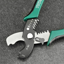 Multi Tool 8″ Wire Stripper Cable Cutting Scissor Stripping Pliers Wire Cutter 1.6-4.0mm Hand Tools