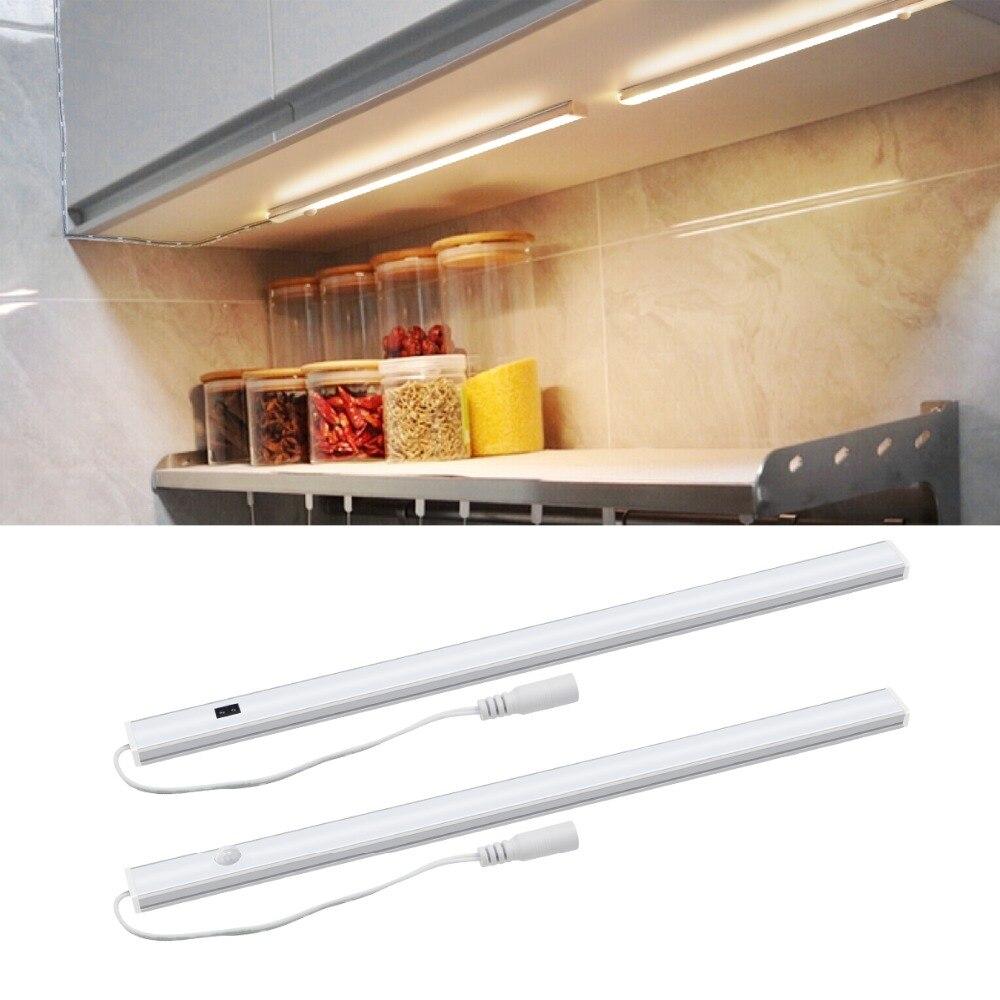 Pir Motion Sensor Table Lamp Dc 12v Hard Strip Led Light Hand Wave Switch Light For Kitchen Cabinet Desk Bedside Desk Lamp Decor Volume Large