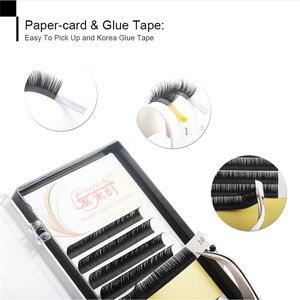 Image 4 - 10Pcs Eyelash Extension Individual Natural Korea Silk Volume Eyelashes Extension Faux Mink Cilios Russian Eye Lashes for Make Up