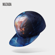 Brand NUZADA 3D Printing Caps Men Women Couple Hip Hop Cap Spring Summer Autumn High Quality Cotton Material Punk