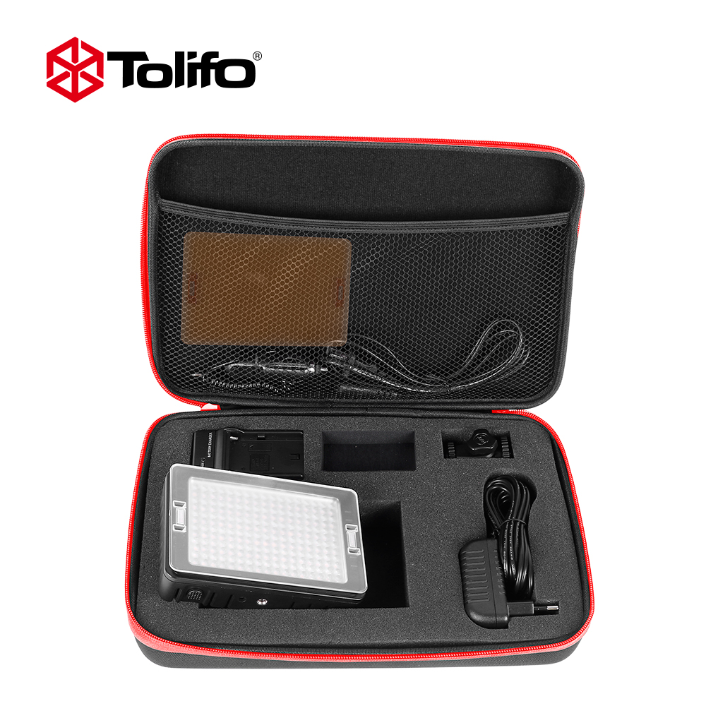 Tolifo PT-160S Kit 160 LED Video Camera Light Panel Day Light 5600K/3200K with Photography Aceeessories for Camera and Comcorder