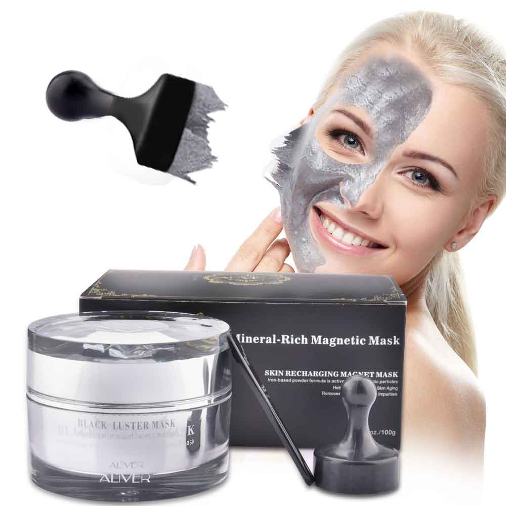 Mineral Magnetic Dead Sea Mud Mask Face Mask Shrink Pore Blackhead Cleansing Removes Skin Impurities Moisturizing Face Skin Care