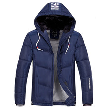 Mens Parka Coat 4XL Winter Men's Jacket 2017 Brand Clothing Thick Warm Hooded Quilted Jacket Men Casual Outwear Jackets Coats