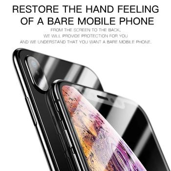 Защитная пленка для задней панели экрана Baseus для iPhone Xs Max XR, закаленное стекло для iPhone X Max 3
