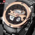 NAVIFORCE Top Luxury Brand Men Impermeable Militar LED Relojes Deportivos hombres Reloj Digital Hombres Reloj de Pulsera relogio masculino