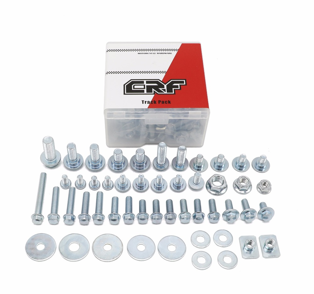 50pieces motorcycle hardware bolt track pack handware kit for honda cr crf 250r 450r 450x 150r