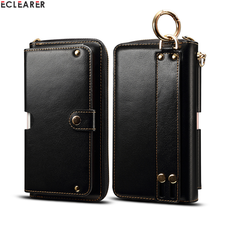 Universal Genuine Leather Wallet Cell Phone Bags Cases Luxury Multi Functional Zipper Card Slots Purse Pouch Hand Bag Phone Case