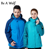 Be A Wolf Hiking Jackets Men Women Outdoor Camping Ski Hunting Clothes Fishing Winter Waterproof Windbreaker