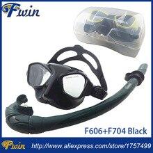 Топ Дайвинг шестерни и трубка оборудование Черный силиконовая Подводная маска низкий профиль маска для подводной охоты, трубка