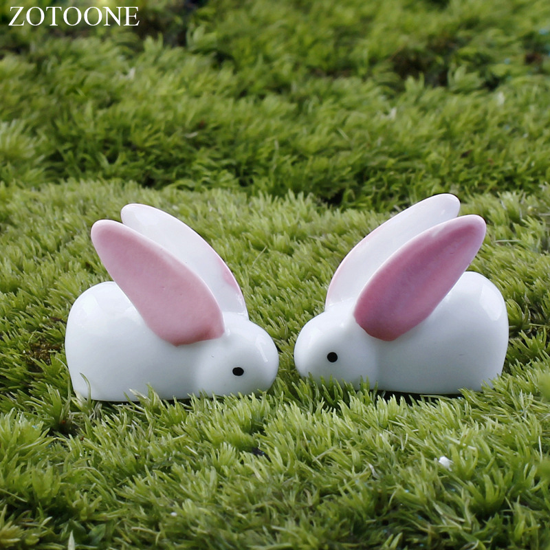 ZOTOONE 20pcs set Home Decoration Easter Big Ear Rabbit Party Resin Decoration Easter Gift for Child Micro Landscape Accessories in Party DIY Decorations from Home Garden