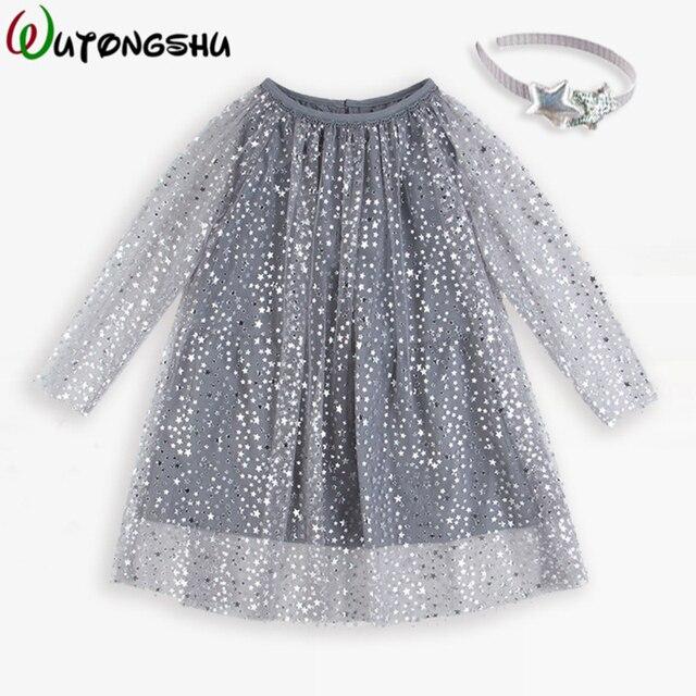 Костюм принцессы блестящие детское платье для дня рождения с рукавами для девочек платье-туника Рождественская одежда для детей Fille Детские платья