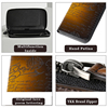 Genuine Leather Mens Wallets Cowhide Clutch Bags Handmade Casual Vintage Zipper Male Purse Holders Wholesalers