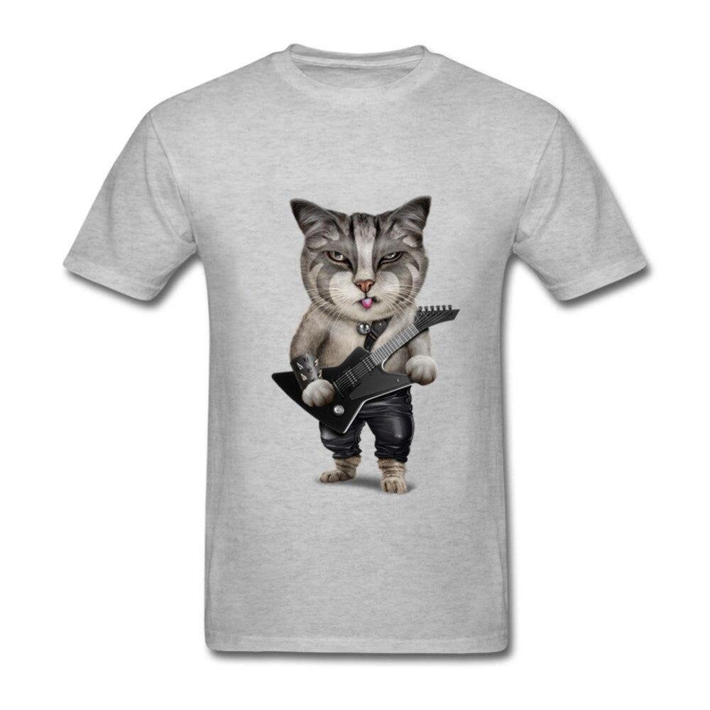 Heavy Metal Bass Guitar Cat Funny T-Shirt O Neck Men music club Christmas She Wants The D Chord Guitar T Shirt 2018 MALE tshirt