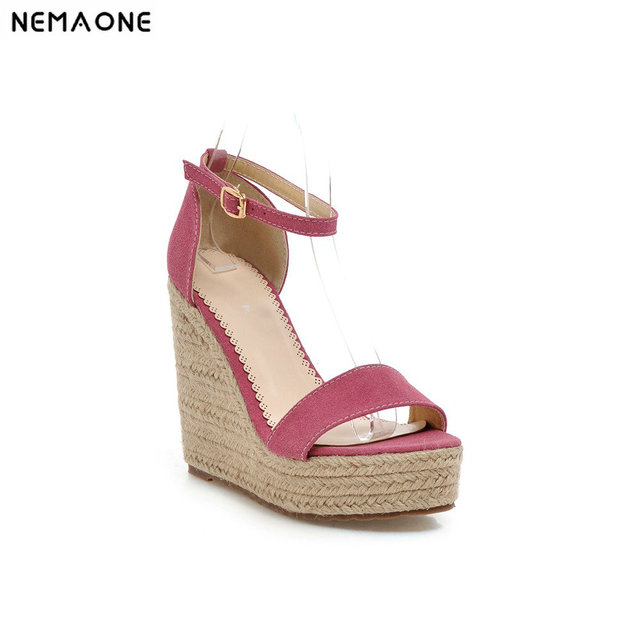 23facc9ab171 High Qality Summer style comfortable Bohemian Wedges Women sandals for Lady shoes  high platform open toe sandals big size 34-48