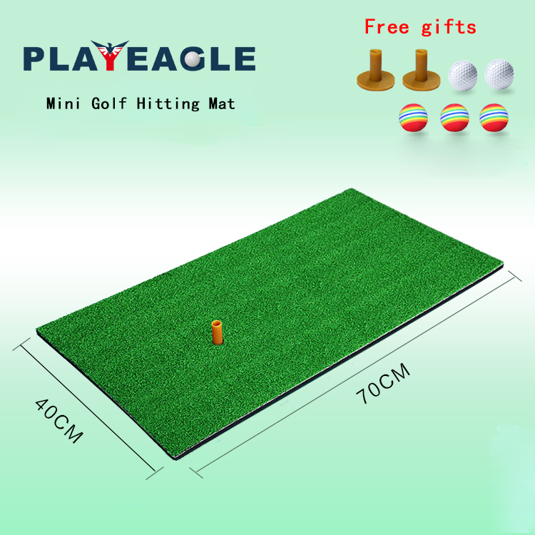 40X70CM Indoor & Outdoor Mini Golf Mat Residential Easy Carry Training Hitting Pad Rubber Tee Holder Practice Whenever Wherever