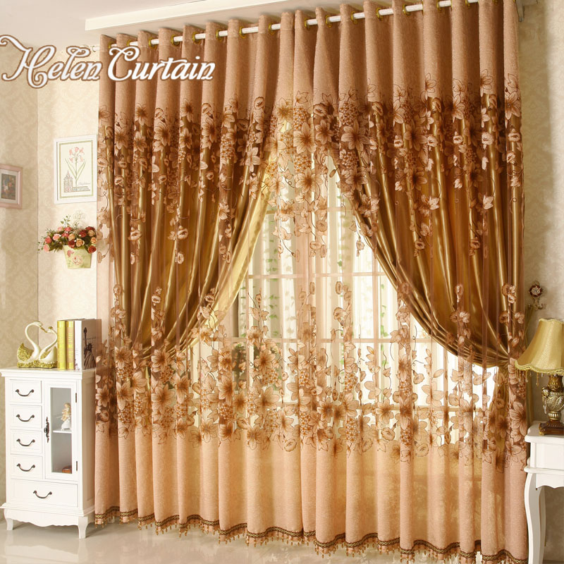 Blackout Curtains For Living Room Hotel European Simple: Aliexpress.com : Buy Hot ! 2 Lays Luxury Blackout Burnout
