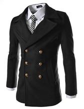 2014 autumn man new fashion trench coat double breasted men'a long coat suit men coat men Overcoat Outerwear casaco masculino