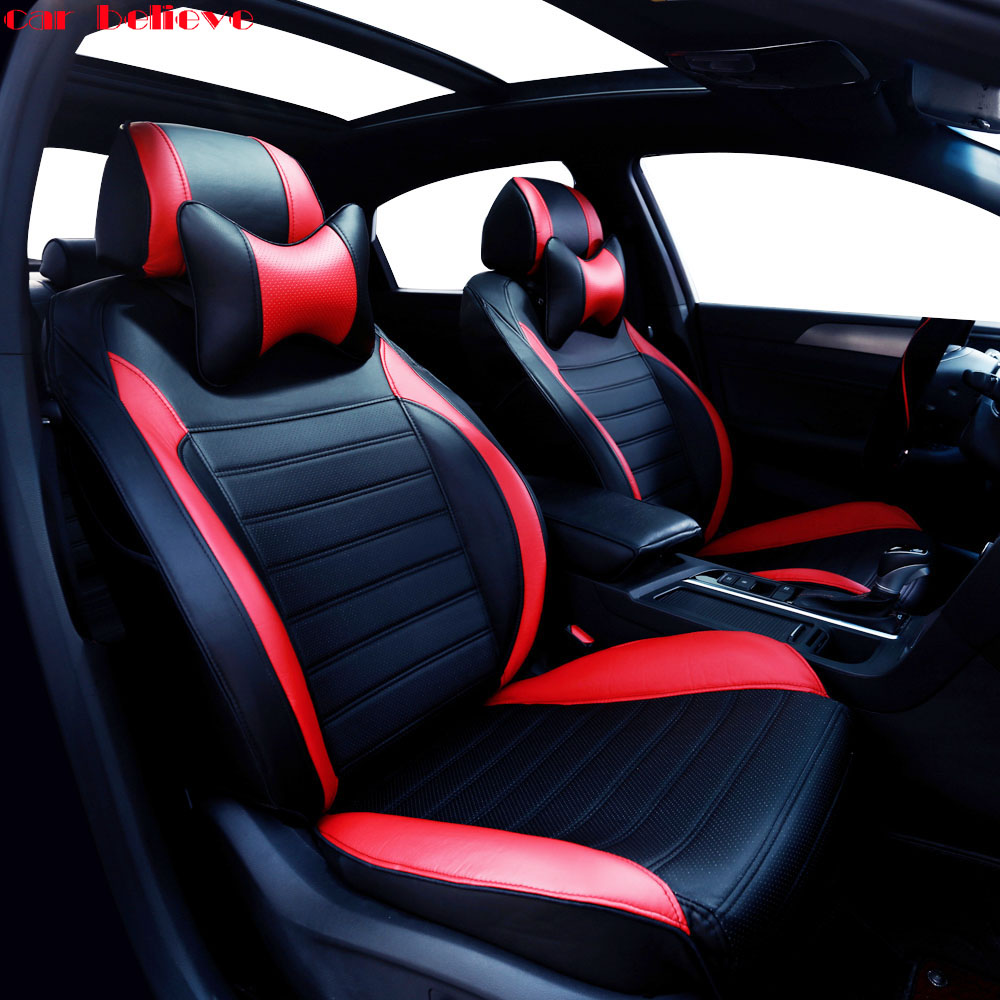 Car Believe Auto automobiles leather car seat cover For Dodge Caliber Avenger Journey Challenger car accessories styling
