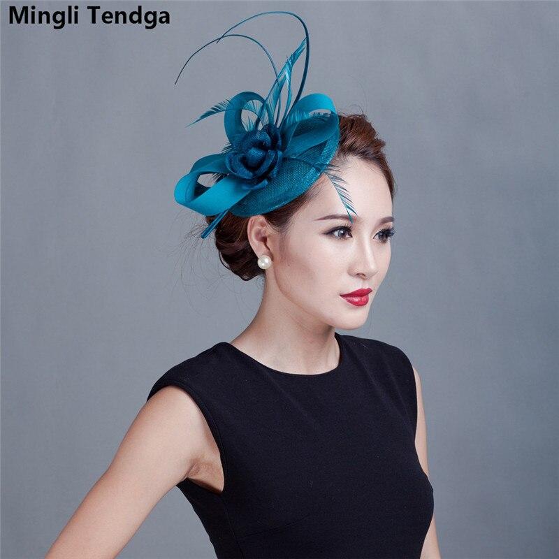 Dark Blue Green Hemp Headdress Hair Accessories Photography Hemp Hat Bridal Hats Wedding Headdress Mingli Tengda Bibi Mariage