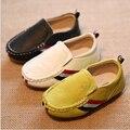 Cuero genuino Zapatos de Los Niños Envío libre 2016 niños del resorte zapatos de lona para niños niñas zapatillas de deporte Estilo de La Moda