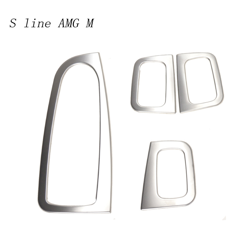 Car Styling Window Lift Button Switch Panel Cover Stickers Trim For Mercedes Benz C Class W205 GLC X253 Auto Accessories LHD RHD